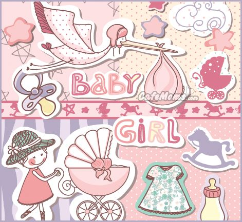 Baby Girl Graphic plus many other high quality Graphics for your Facebook profile at CafeMoms.com.