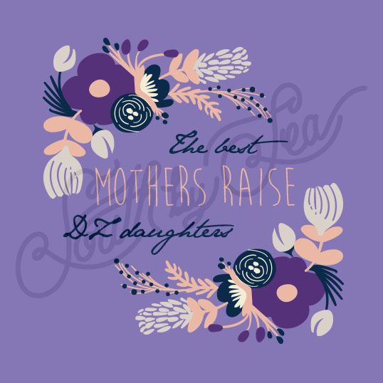 Delta Zeta | DZ | Mother's Weekend Tee Shirts | Mom's Weekend Shirts | Floral Sorority Shirt Design | South by Sea | Greek Tee Shirts | Greek Tank Tops | Custom Apparel Design | Custom Greek Apparel | Sorority Tee Shirts | Sorority Tanks | Sorority Shirt Designs