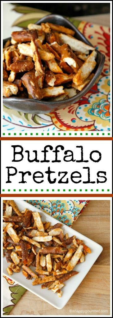 Homemade Buffalo Pretzels. This easy to make homemade snack will have all of your friends and family coming back for more.