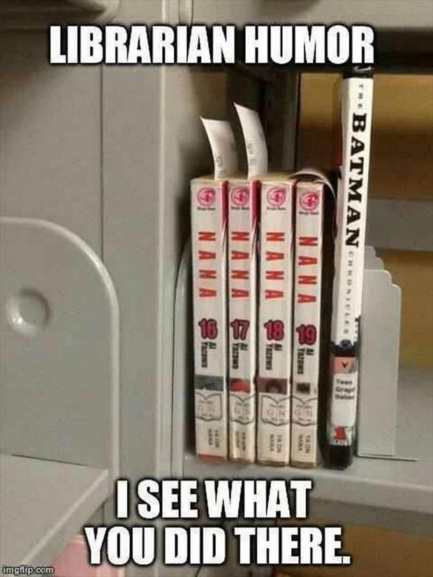 Librarian humor - totally nailed it: I LOLed :)