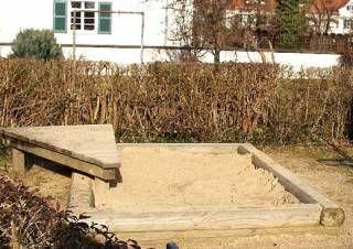 Ostseesand kaufen für meine ZEN- Ecke im Garten mit Strandkorb, Bambus und Buddha