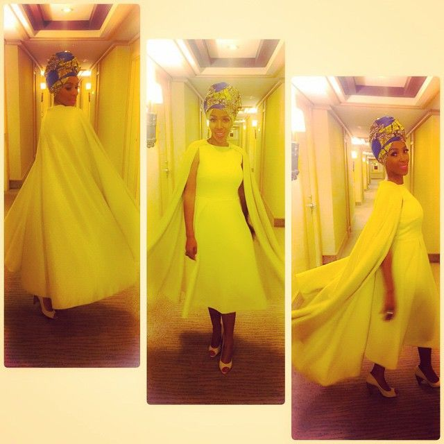 Had so much fun in this lemon cape dress by @nn_vintage