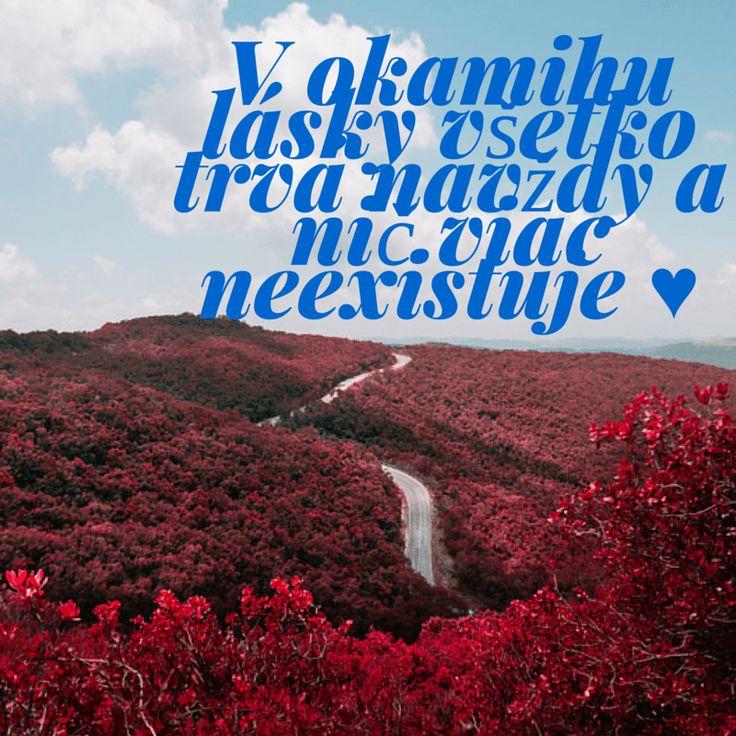 V okamihu lásky všetko trvá navždy a nič viac neexistuje ♥