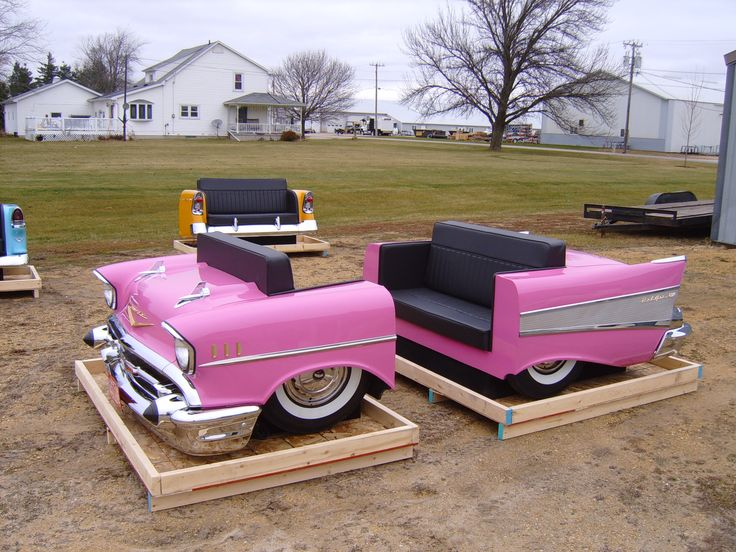 Image detail for -Classic Couches - Whole and Partial Cars made into Diner Booths