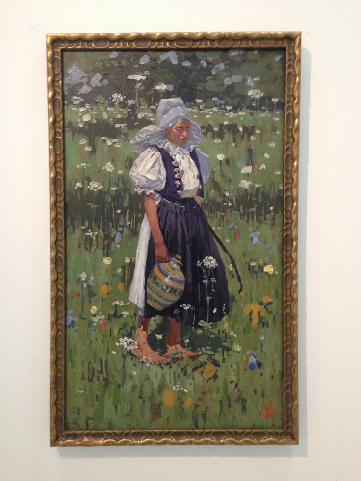 """Blog Post: Joza Uprka. """"Woman from Myjava"""" 1909, Oil on wood. Yes, that's right, oil on wood! Here's yet another Czech artist t..."""