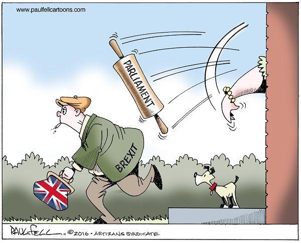 11/4/16 Cartoon by Paul Fell - Brexit Delayed