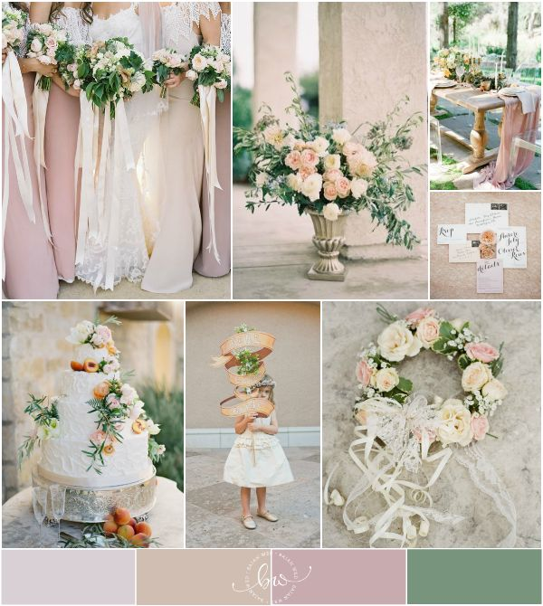 Blush Pink, Peach, Dusty Rose and Cream Wedding Inspiration | via @Bajan Wed
