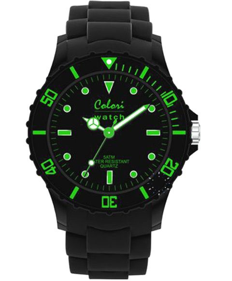 COLORI Neon Nights Black Silicone Strap Τιμή: 34€ http://www.oroloi.gr/product_info.php?products_id=34912