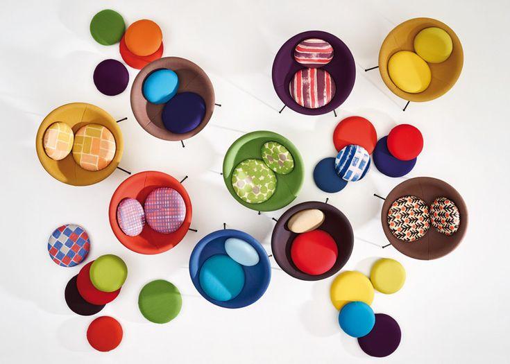 Arper to relaunch Lina Bo Bardi's Bowl Chair | design | Dezeen. Wonderful color & pattern combination potential. #Dec2013
