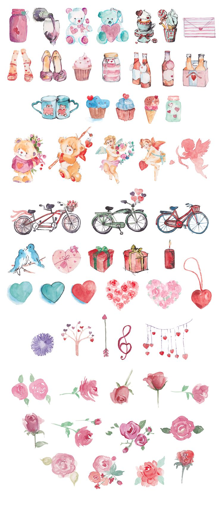 Lovely Watercolor Doodles - Illustrations - 3