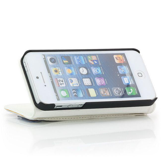 Smooth Skin Flip Case für Apple iPhone 5 & 5S Weiß