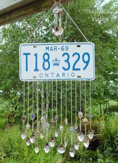 How to Make A Licence Plate Wind Chime