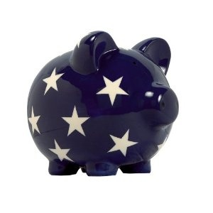 Elegant Baby Classic Pig Bank With Stars