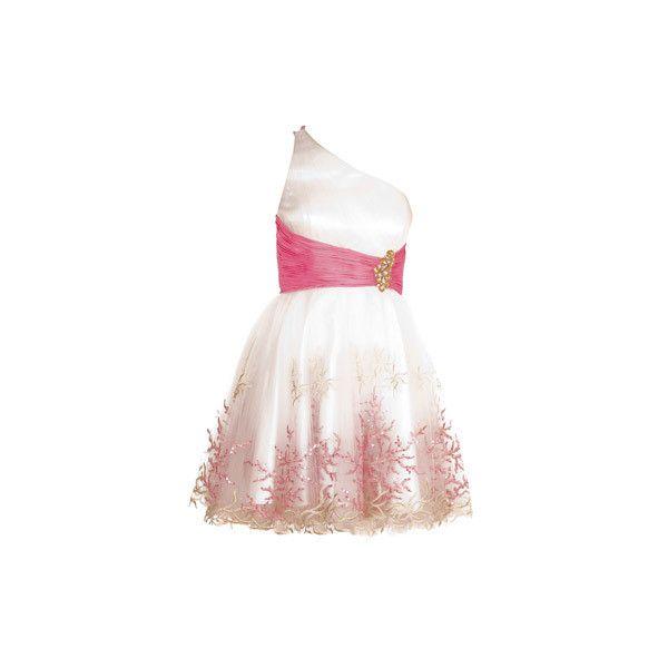 Dresses - LIBRA - Forever Unique ($260) ❤ liked on Polyvore featuring dresses, vestidos, vestiti, short dresses, asos cocktail dresses, asos, pink mini dress and mini dress
