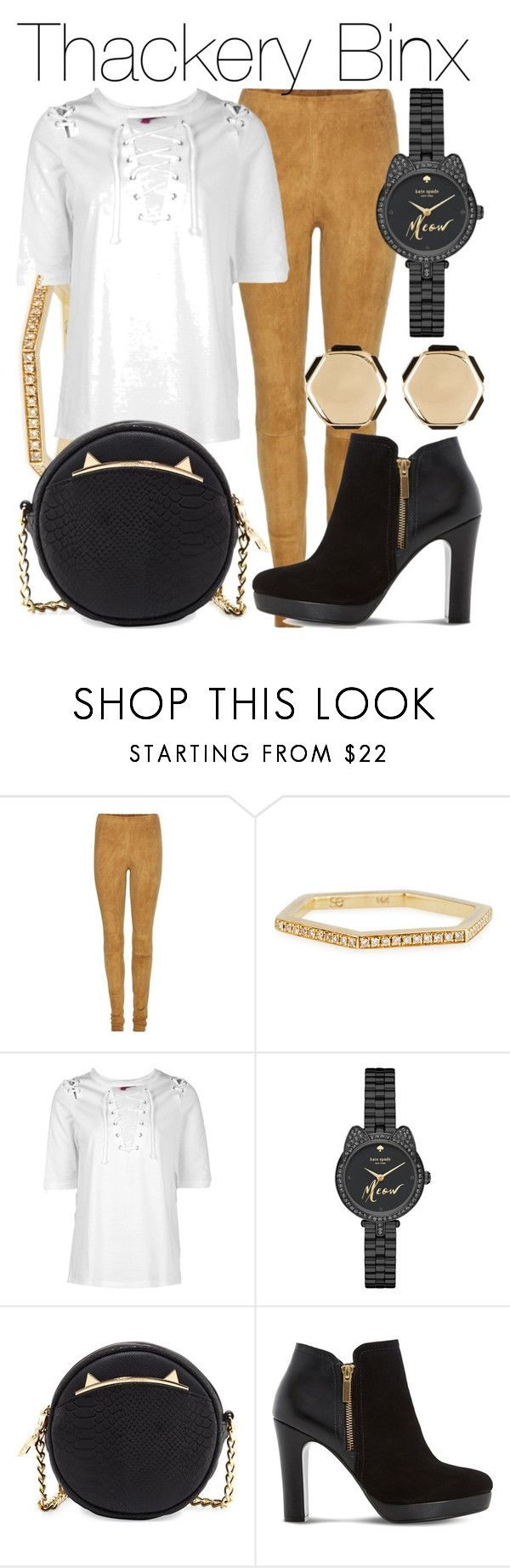 """Thackery Binx"" by fabulousgurl ❤ liked on Polyvore featuring STOULS, Sydney Evan, Boohoo, Kate Spade, Betsey Johnson, Dune, 14th & Union, disneybound and hocuspocus"