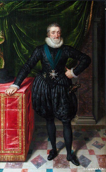 Henri IV, roi de France, en costume noir - Pourbus le jeune (Musée du Louvre)