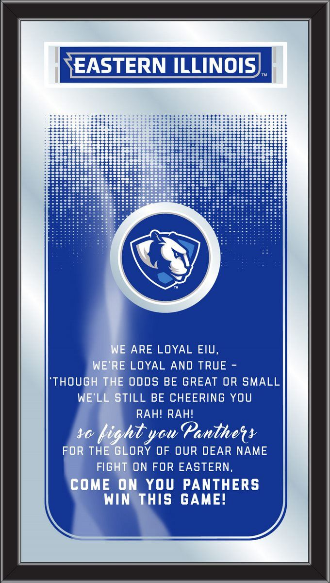 The Eastern Illinois Panthers Fight Song Mirror is the perfect way to show your school pride, proudly displaying the Eastern Illinois University logo and the verses that get the EIU Panthers fired up