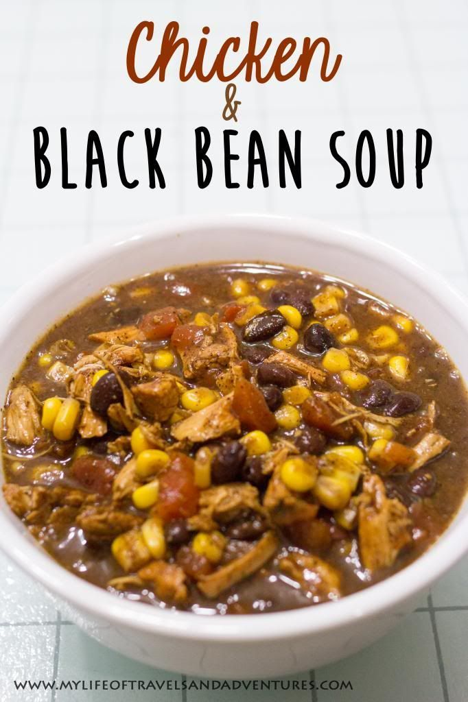 Chicken and Black Bean Soup | www.mylifeoftravelsandadventures.com | #Soup #BlackBean #Chicken #Recipe