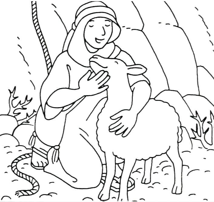 Parables Of Jesus Coloring Pages Lost Sheep Coloring Pages The