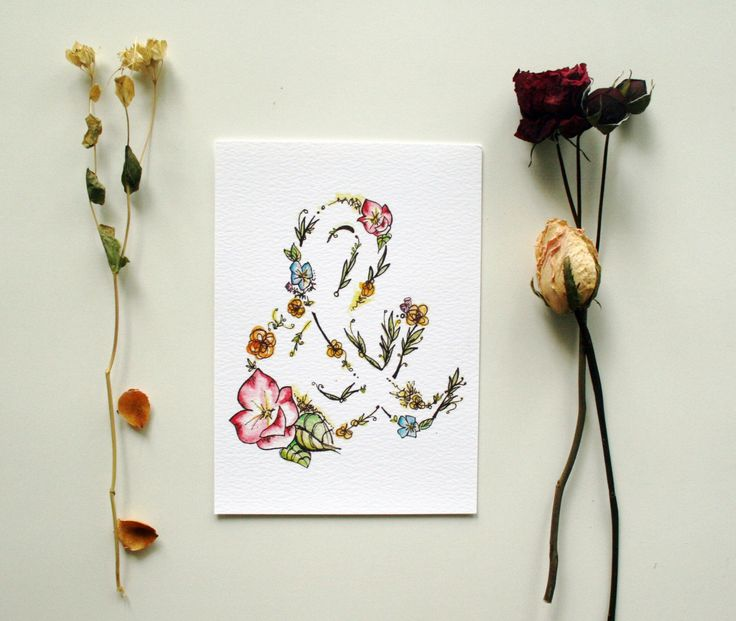 """Decorate your space with Ginably's watercolor illustration prints. - Printed on 100% white cotton rag - Available in sizes 5""""x7"""" and 8""""x10"""" - Shipped flat in a rigid mailer with a cellophane protectiv"""