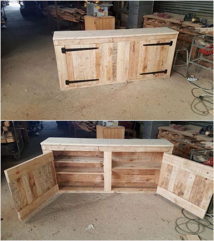 Pallet Kitchen Cabinets, Pallet Pantry And Pallet