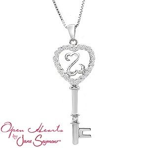 Open Hearts by Jane Seymour® Color Key Necklace