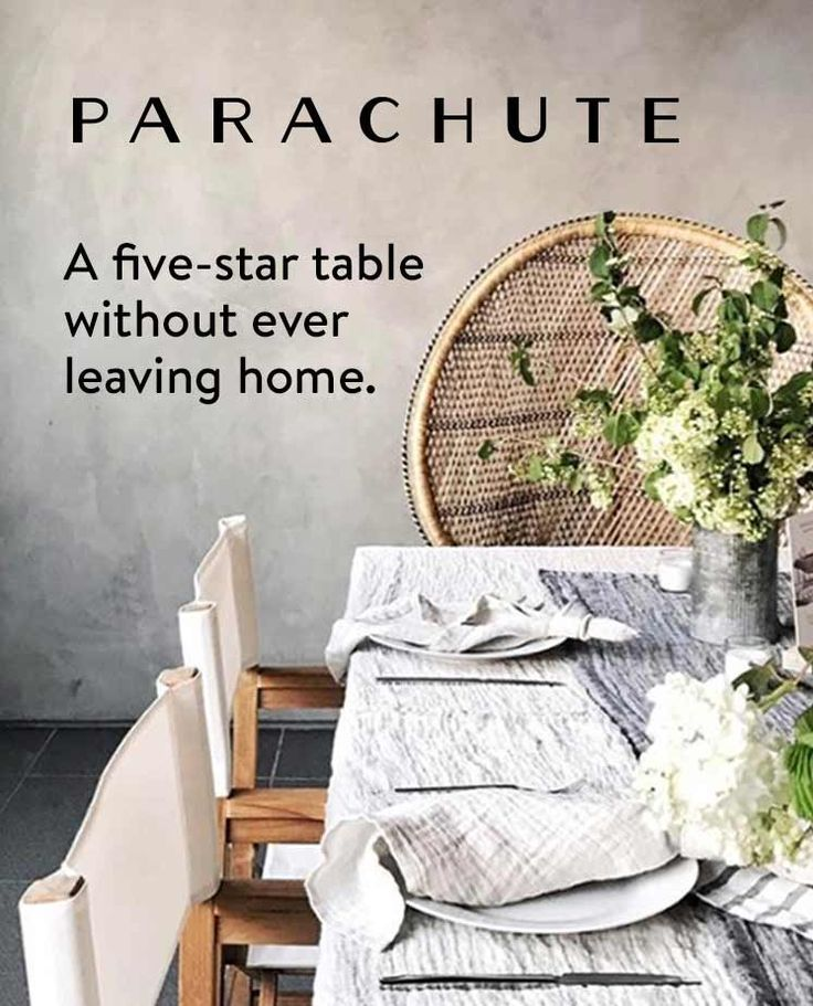 Decorate Your Table With Italian Linen From Parachute