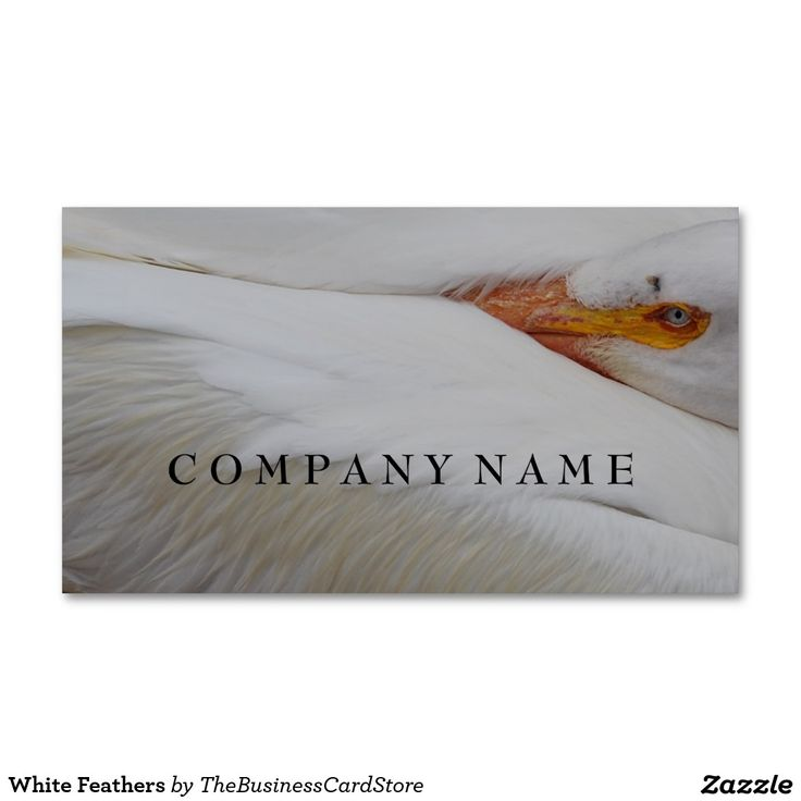 White Feathers Standard Business Card