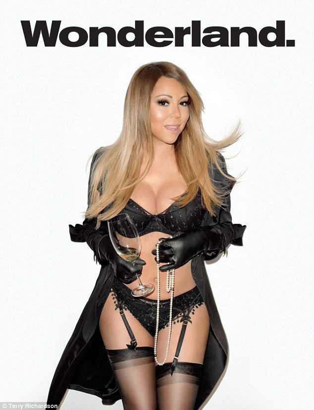 Racy shoot: Mariah Carey posed for Terry Richardson for her Wonderland cover shoot... http://dailym.ai/1mWPIvu#i-ac340e85
