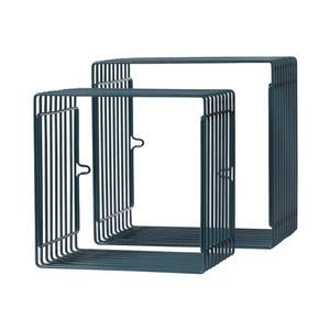 Bilde av Done by Deer, Wire shelf, rectangle, 2 pcs., dark blue