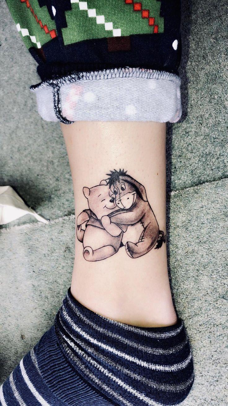 Sweet little Winnie-the-Pooh tattoo done by Jon @ Atomic tattoos, Oxford. : tattoos