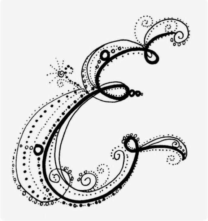 195 best LETTER E e images on Pinterest Calligraphy