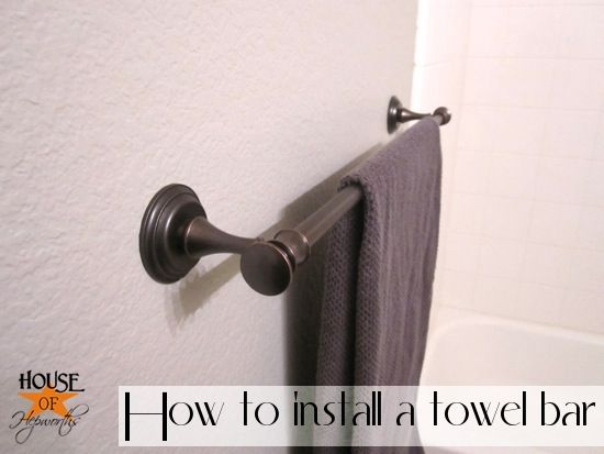 NOW I know how to install the towel bar! {@House of Hepworths}: E Z Anchors, Allison Houses, Hardware, Guest Bathroom, Diy Tutorial, Towels Bar, Drywall Anchors, Tutorials Towels, J D M Houses