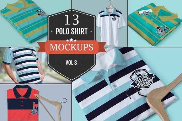 Polo T-Shirt PSD Mockups Vol.3 by ZippyPixels at TaylorAdams4Me on Creative Market | #BuyDesign #GraphicDesign