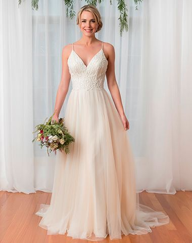 Ballerina style bridal gown in soft tulle by Peter Trends - style PT 17001