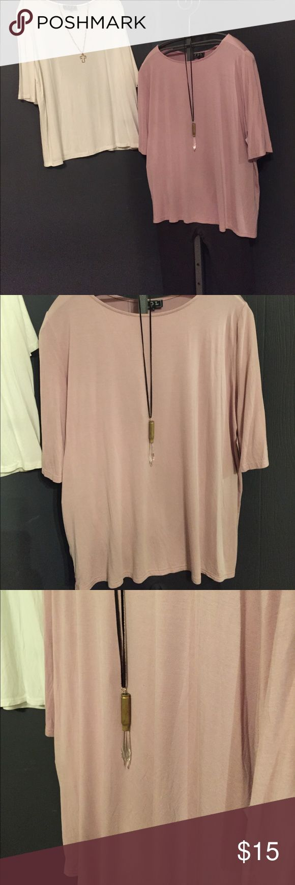 NWT POL Half Sleeve Boat neck T Shirt Can't even begin to really describe how soft this T Shirt feels!  This listing is for a gorgeous lilac (comes in an off white too).  You will want to wear this every day! POL Tops Tees - Short Sleeve