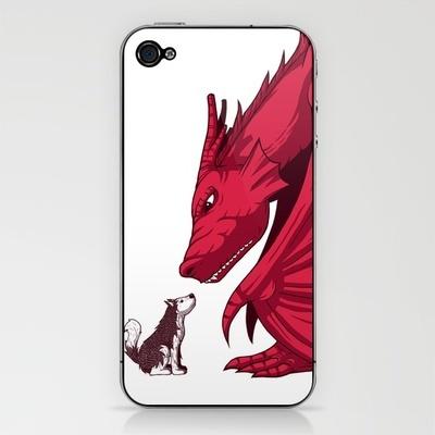 dragon and husky.