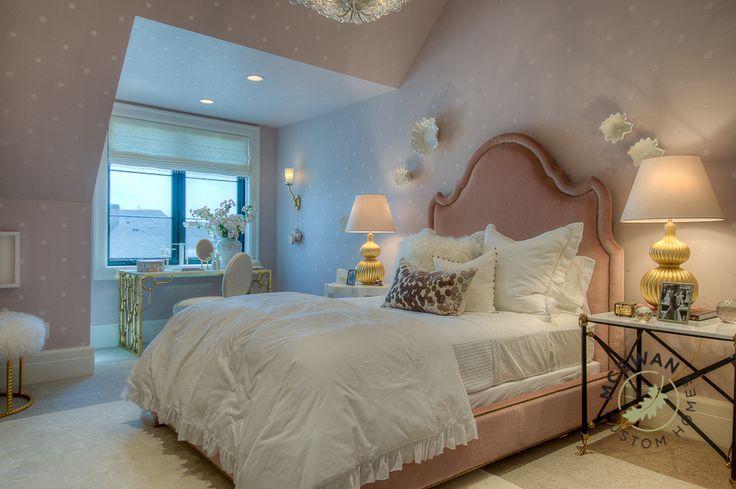 Pretty in pink l McEwan Custom Homes #mcewancustomhomes #smalldetailsbigdifference #bedroom #girlsbedroom #utah #utahhomes