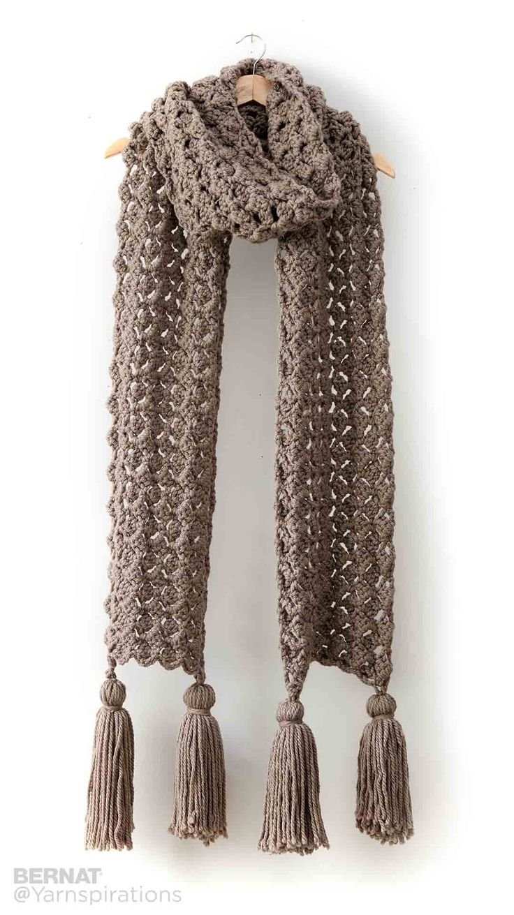 Pump Up The Volume Crochet Super Scarf - Patterns | Yarnspirations