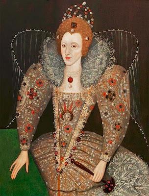 Queen Elizabeth I with a Fan,  Unknown artist, 1592