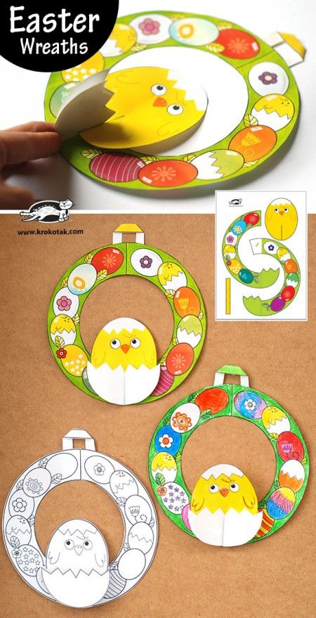 Easter Wreaths + templates (krokotak)