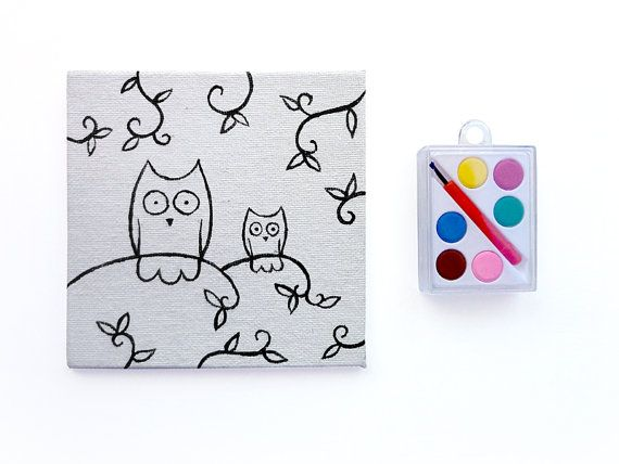 Paint Your Own Owls - DIY Kids Toys - Unique Kids Gifts - Woodland Toy - DIY Paint Party on Etsy, $15.00