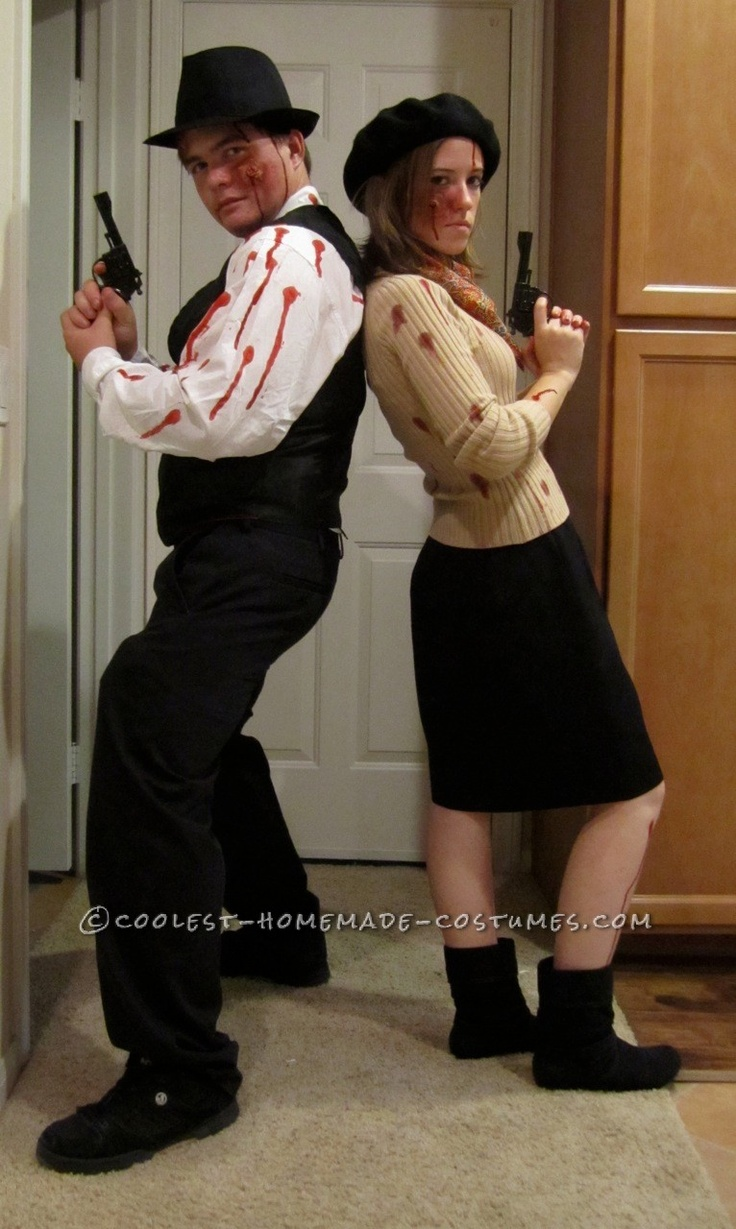 Coolest Zombie Bonnie And Clyde Couple Costume  Halloweeny Ideas -9612