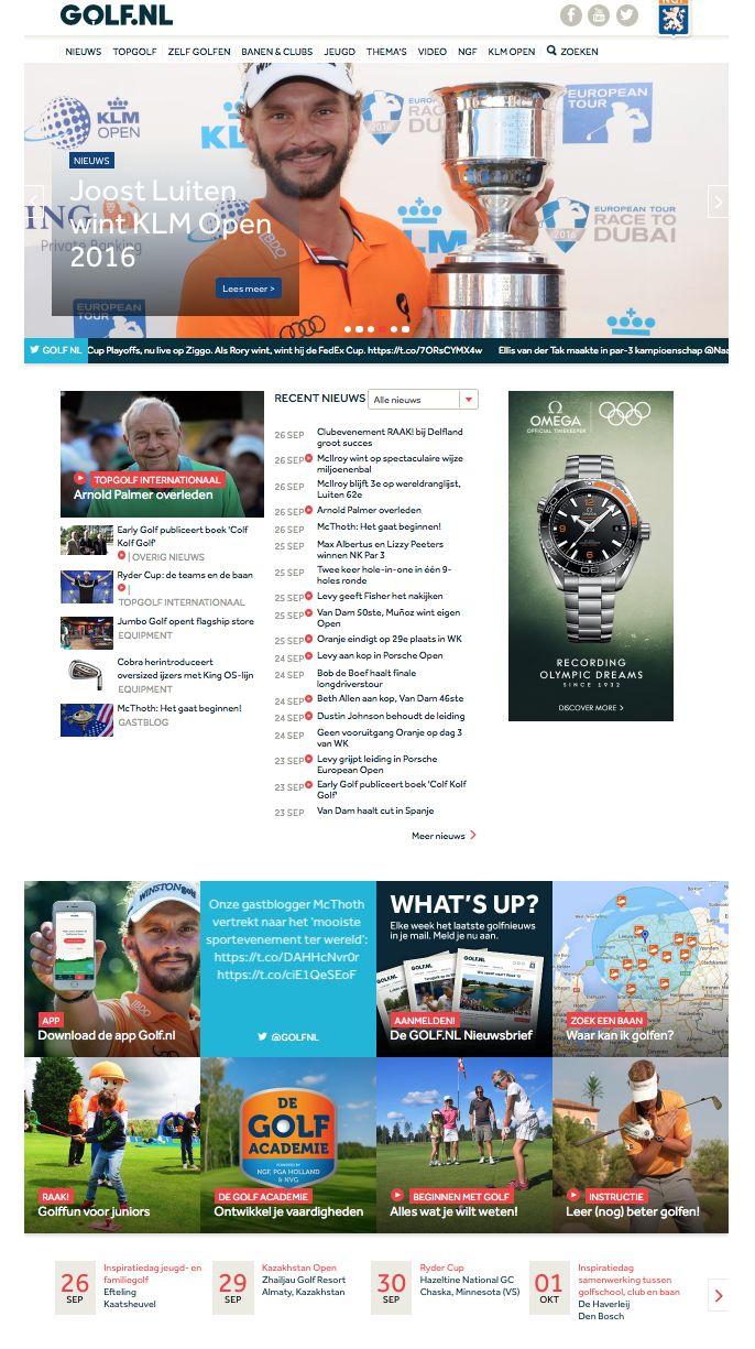 GOLF.NL - website van de Nederlandse Golf Federatie; Editorial manager (2013-heden)