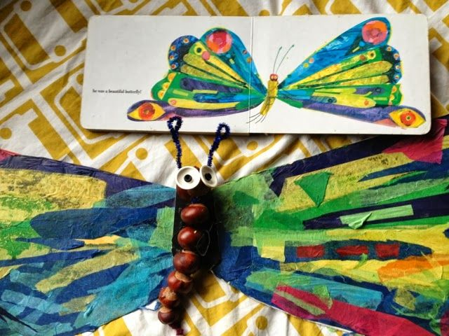 Autumn craft The Conker Hungry Caterpillar