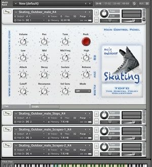 Signo SFX-Instruments new release Outdoor Skating – Male SFX-Instruments Bundle, a new Kontakt sound library that contains sound effects
