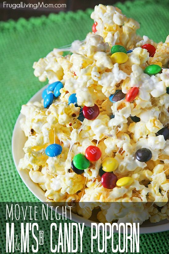This is sticky M&M's® Candy Popcorn. It really was super good AND super easy. It took me about 10 minutes to prepare it.