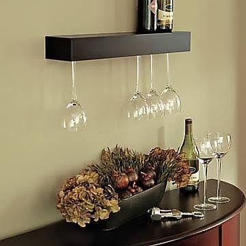 Pinot Wine Glass Shelf nexxt Design Finish: Black