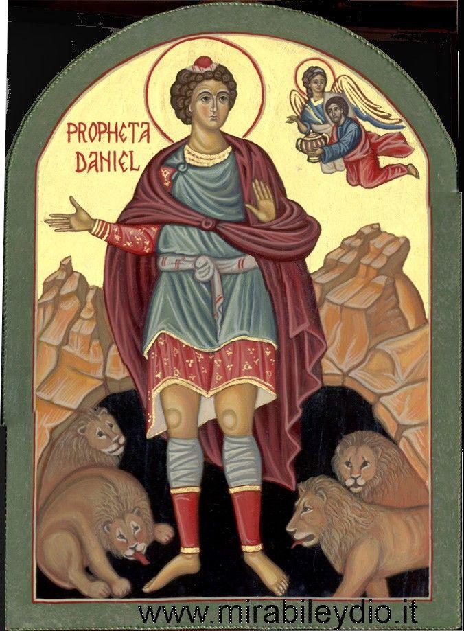 icona del profeta Daniele per mano di Cristina Capella.  www.mirabileydio.it