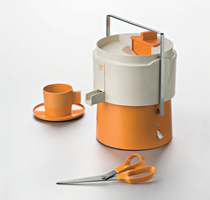 The origin of our orange-handled scissors: an orange juicer.